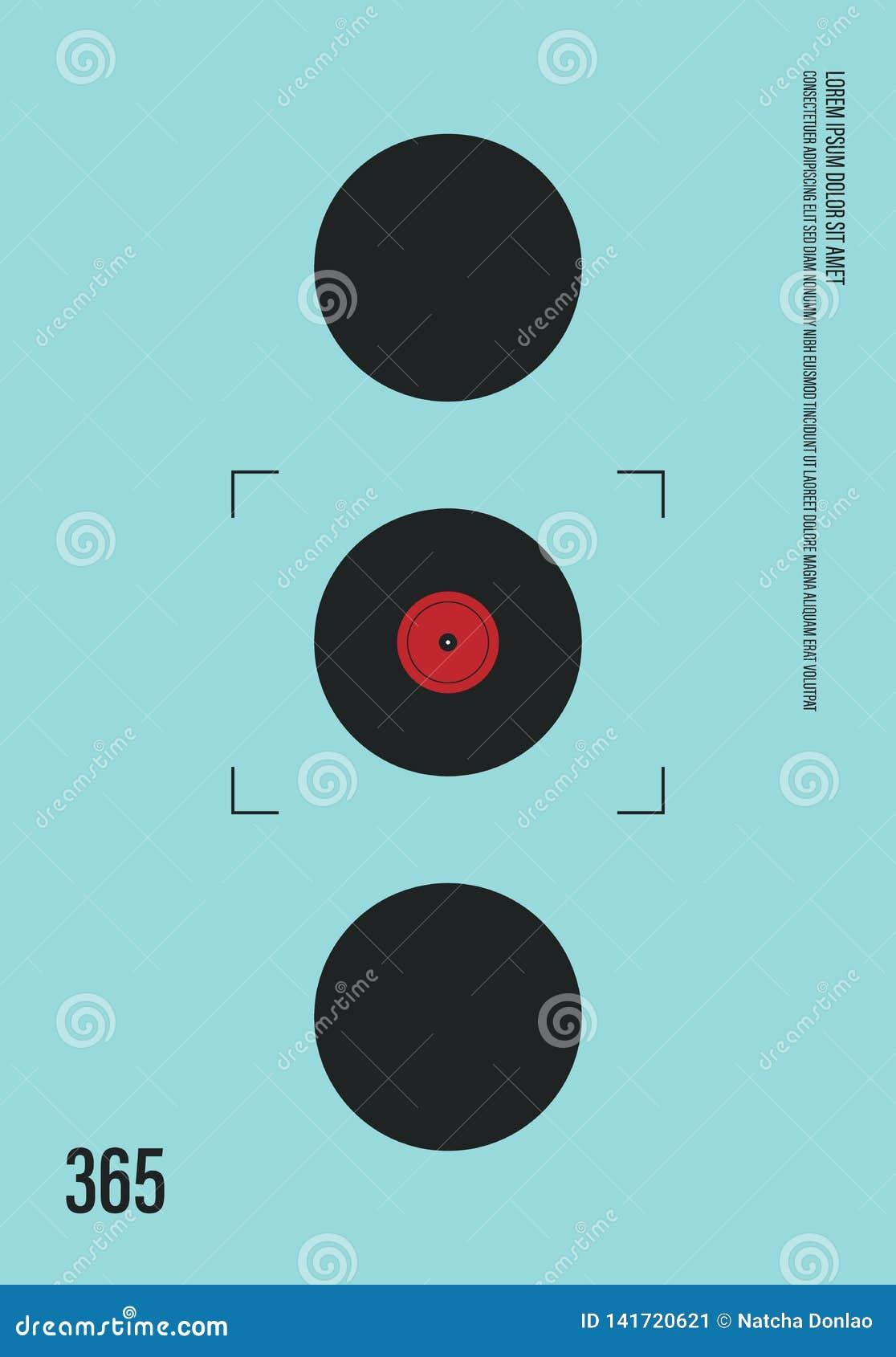 Estilo Retro Del Vintage Moderno Del Cartel De La Música