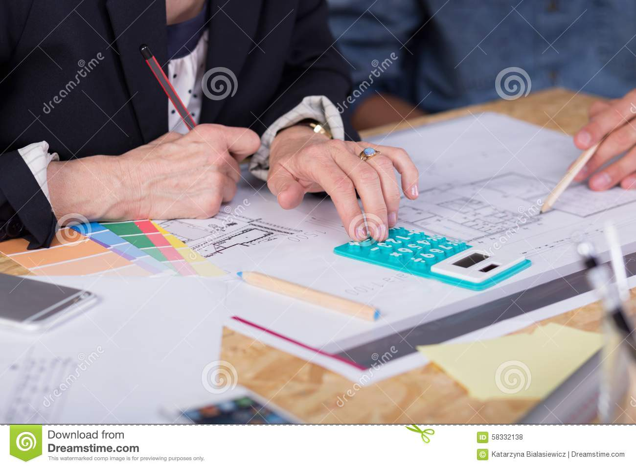 Estimating project cost stock photo image 58332138 - Estimating for interior designers ...