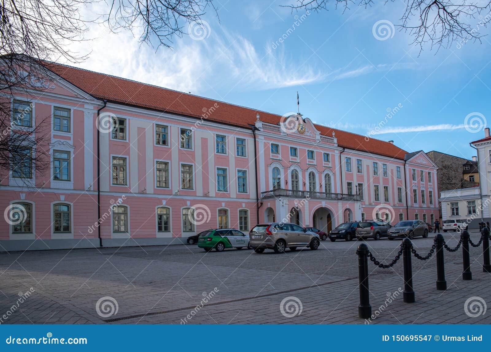 Estland Tallinn Toompea slott, parlamentbyggnad