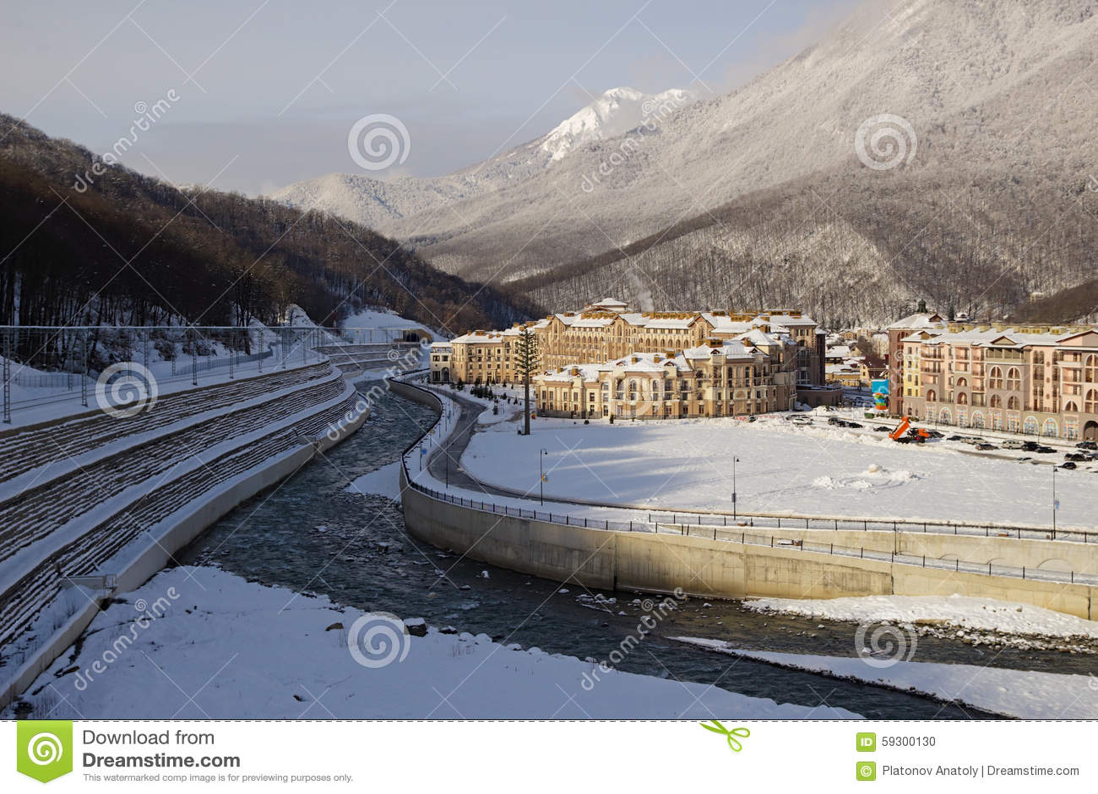 esto-sadok (sochi, russia) is one of the best winter ski resorts in