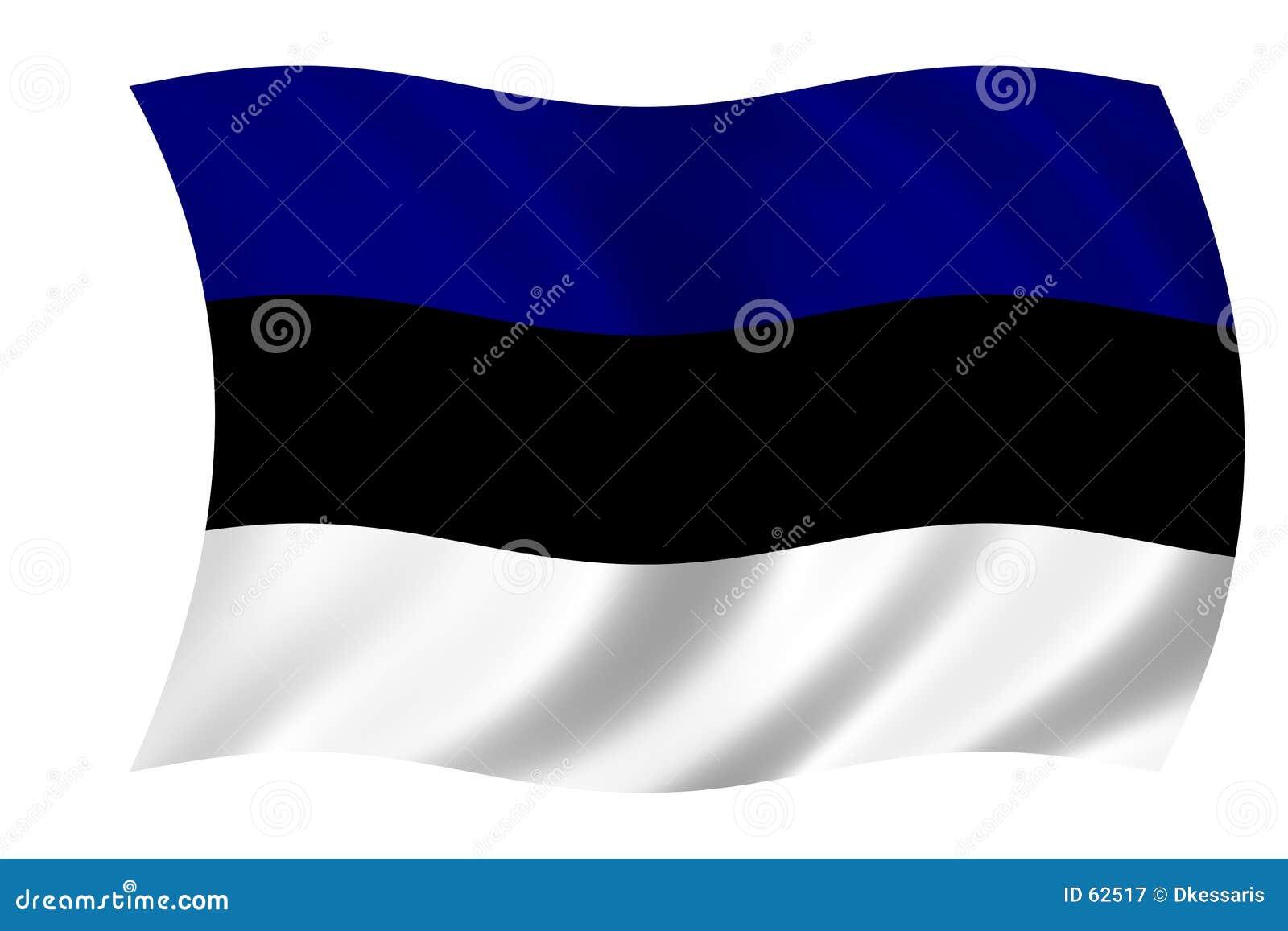 Estonia flagę