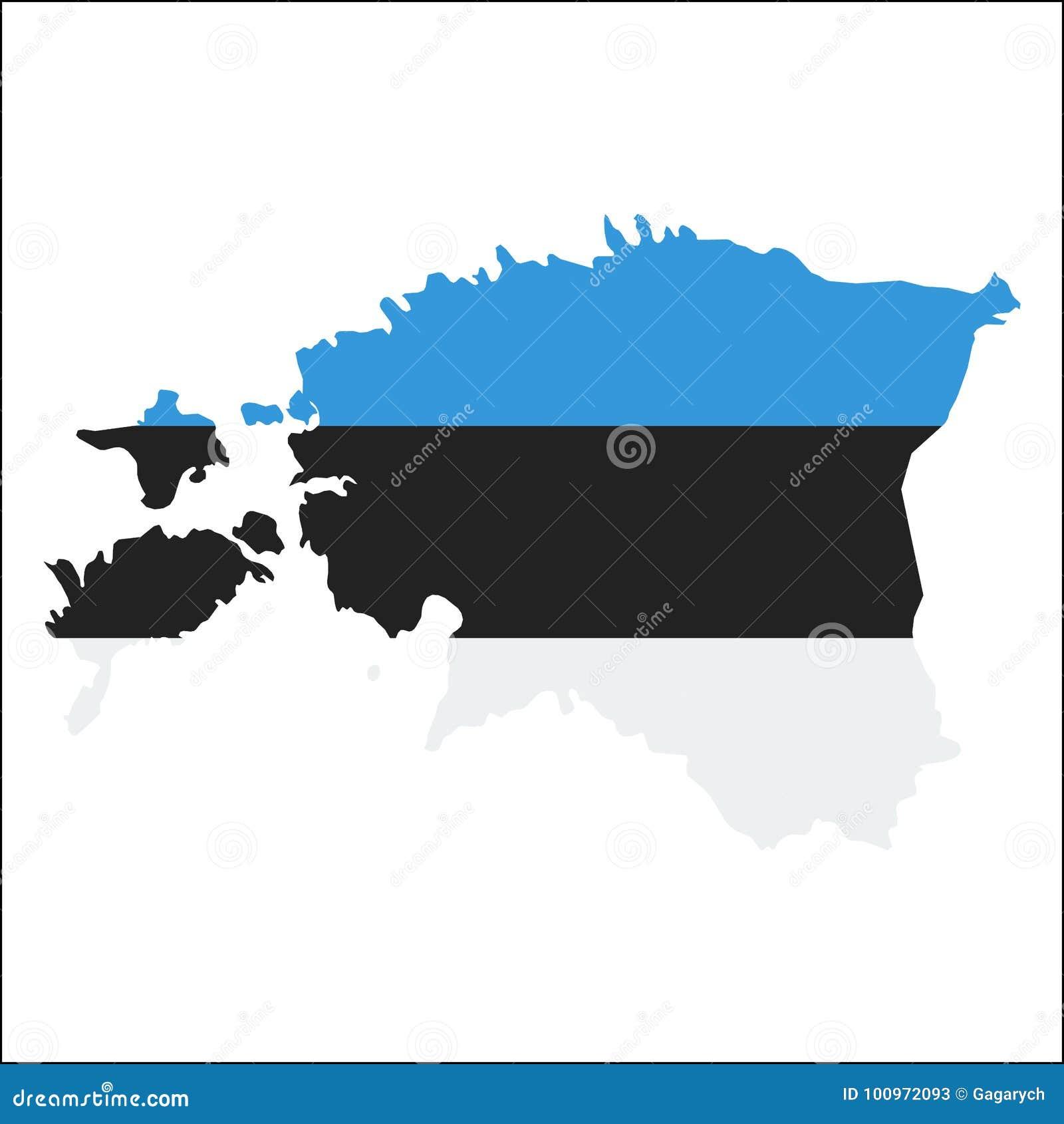 Estonia high resolution map with national flag stock vector estonia high resolution map with national flag gumiabroncs Choice Image