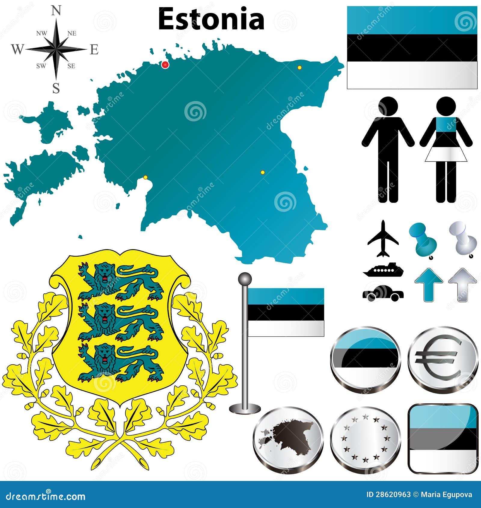 Estonia Map Stock Image Image Of Boundary Button Background - Estonia map download
