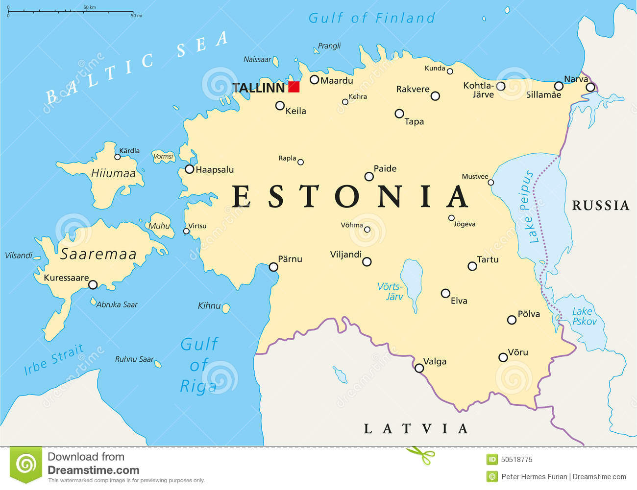estonia mapa Estonia Political Map stock vector. Illustration of coastline  estonia mapa