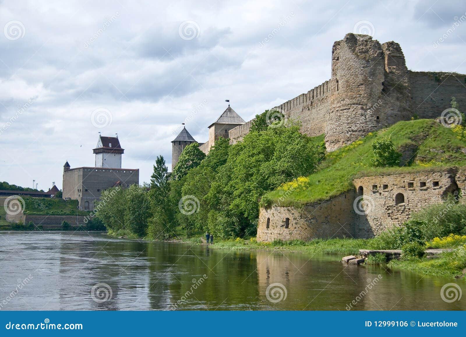 Estonia - Russia. Ancient fortress