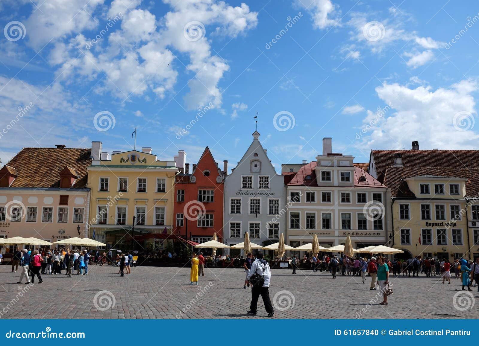 Estonia sala kwadrata Tallinn miasteczko