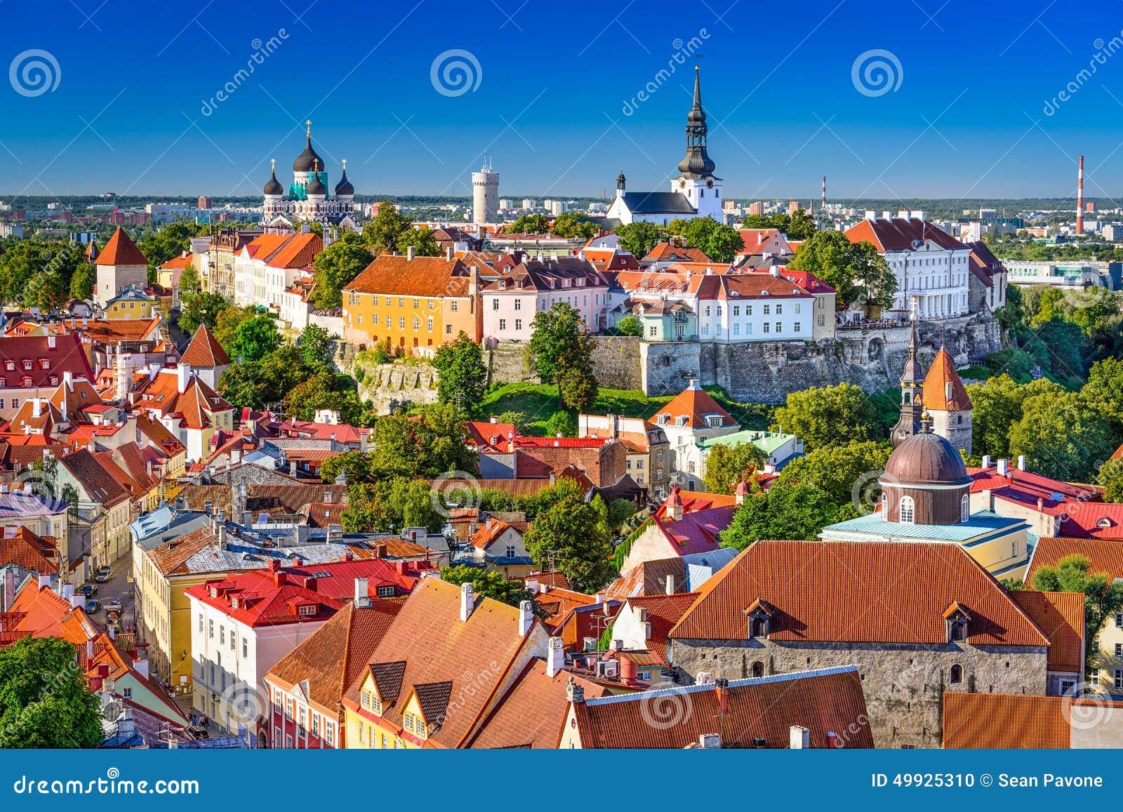 Estonia, Tallinn Skyline