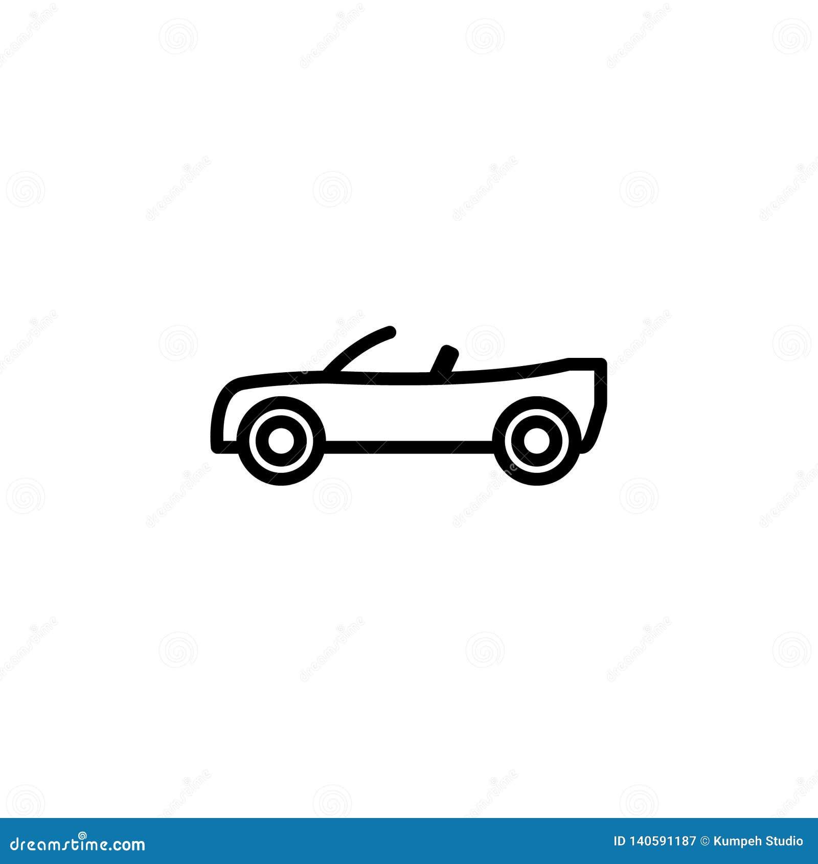 Estoque convertível do ícone do carro do vetor isolado veículos do transporte
