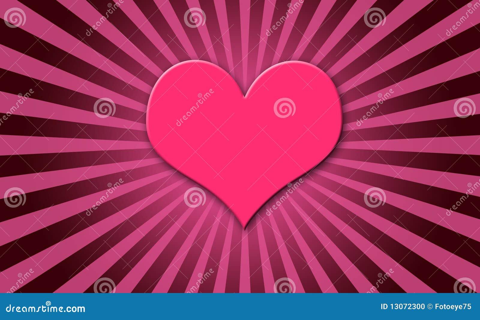 Estouro cor-de-rosa do sol do coração