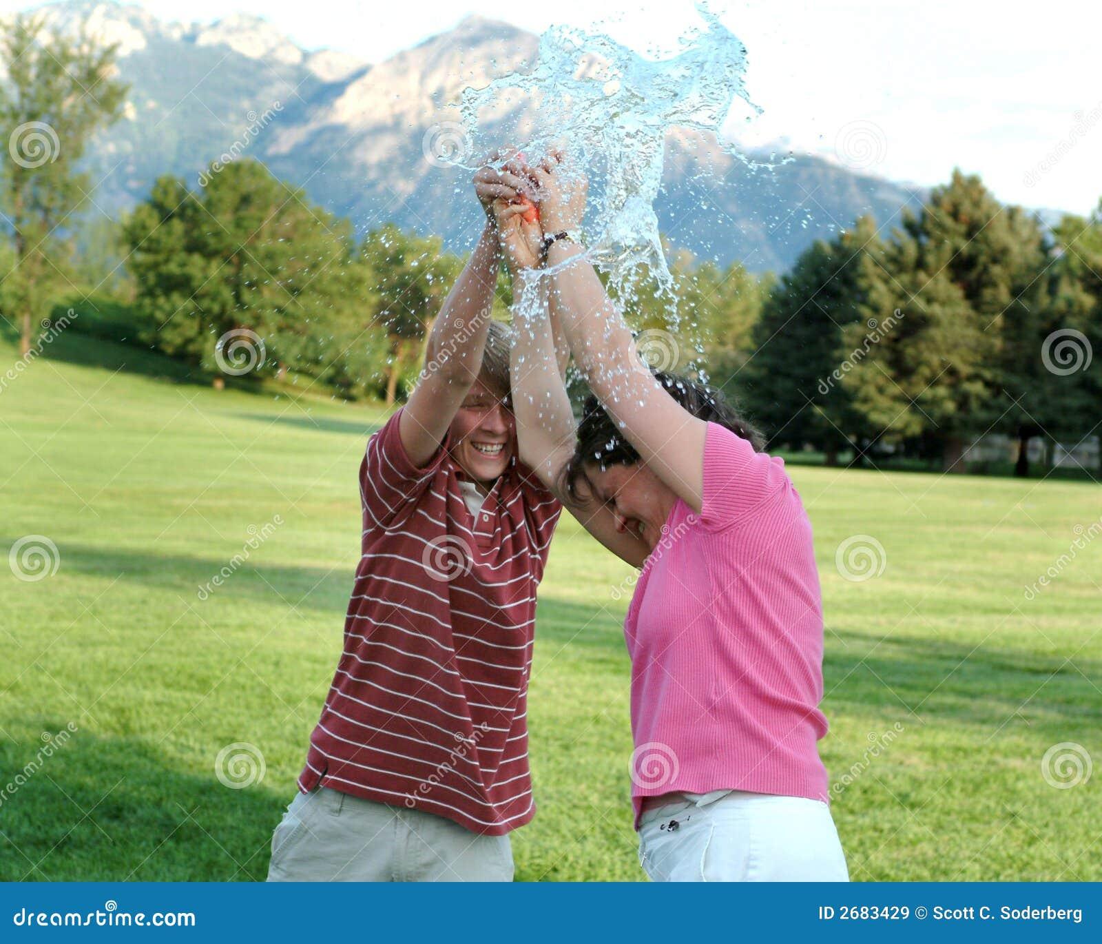 Estouro do balão de água