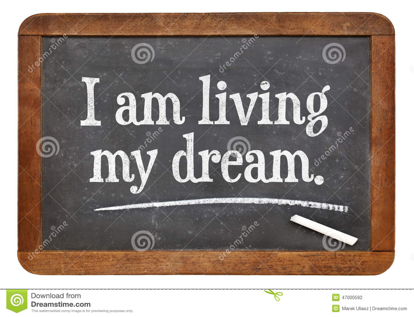 e33e1d0ff2 Estoy viviendo mi sueño foto de archivo. Imagen de concepto - 47000592
