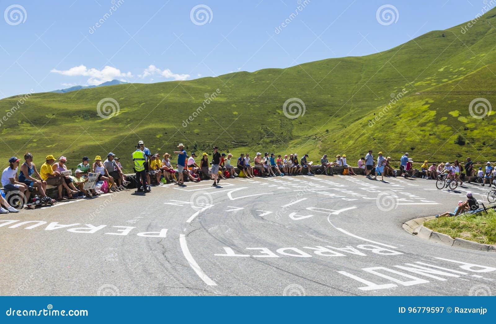 A estrada ao colo de Peyresourde - Tour de France 2014