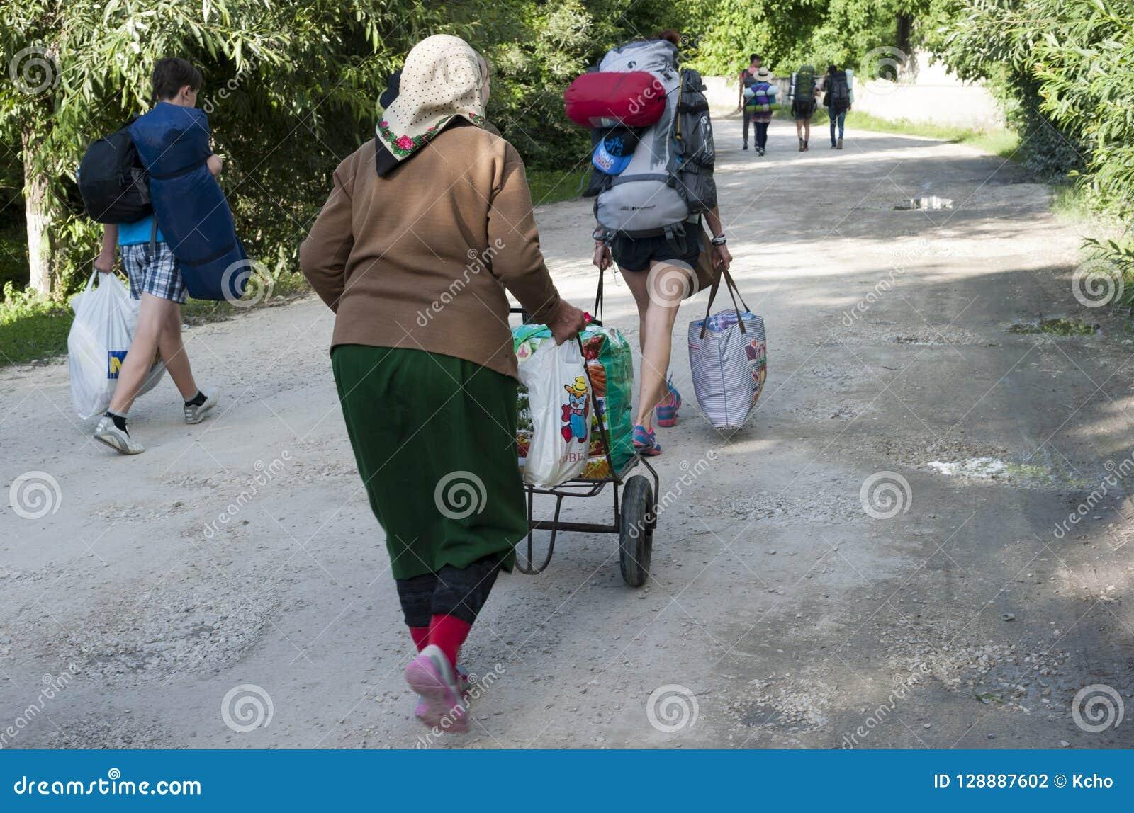 A estrada ao festival moldavo