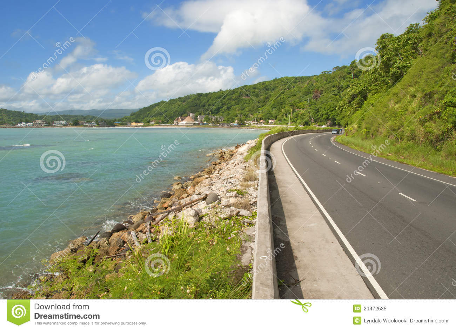 Estrada do Cararibe bonita da estrada litoral
