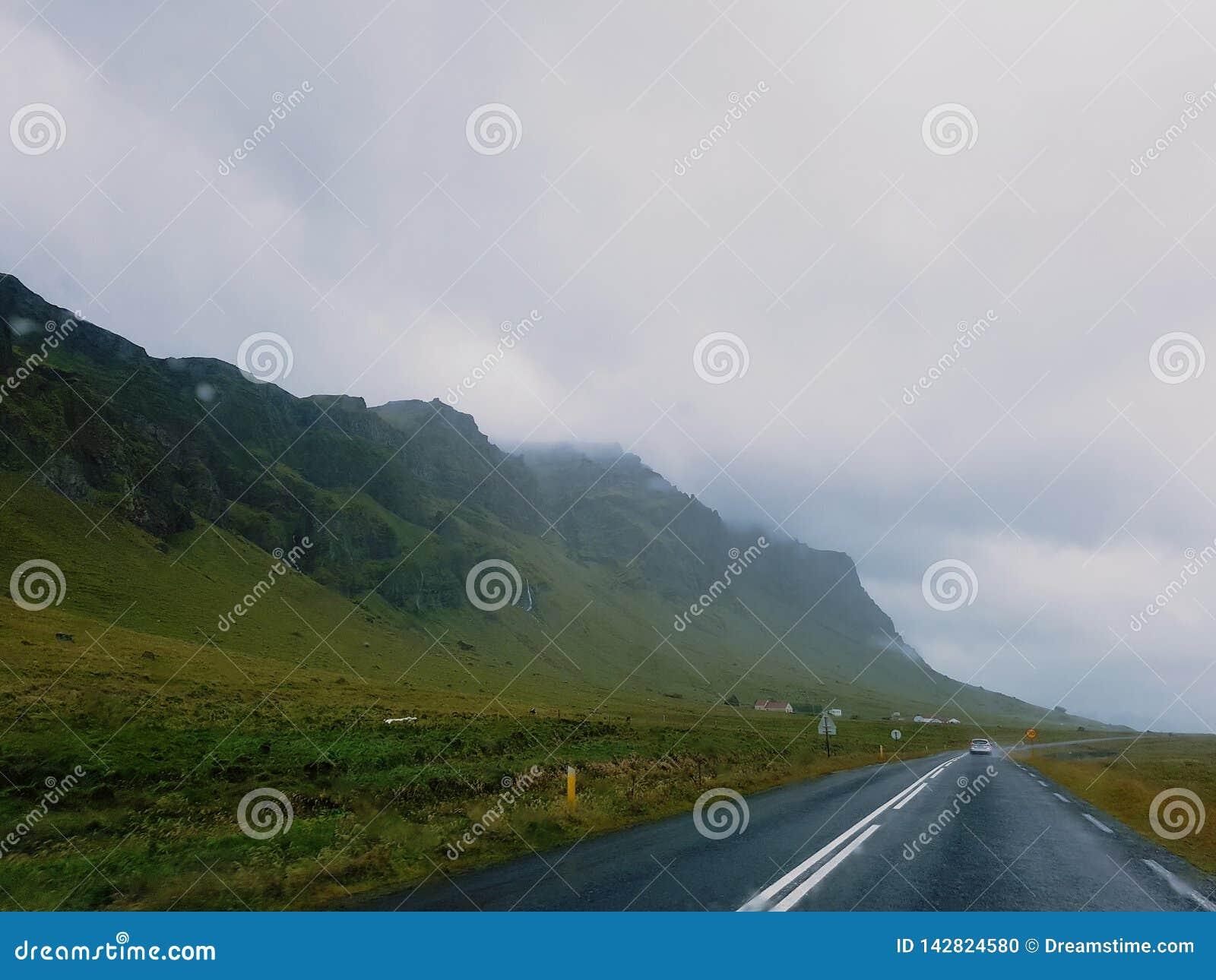 Estrada em Islândia