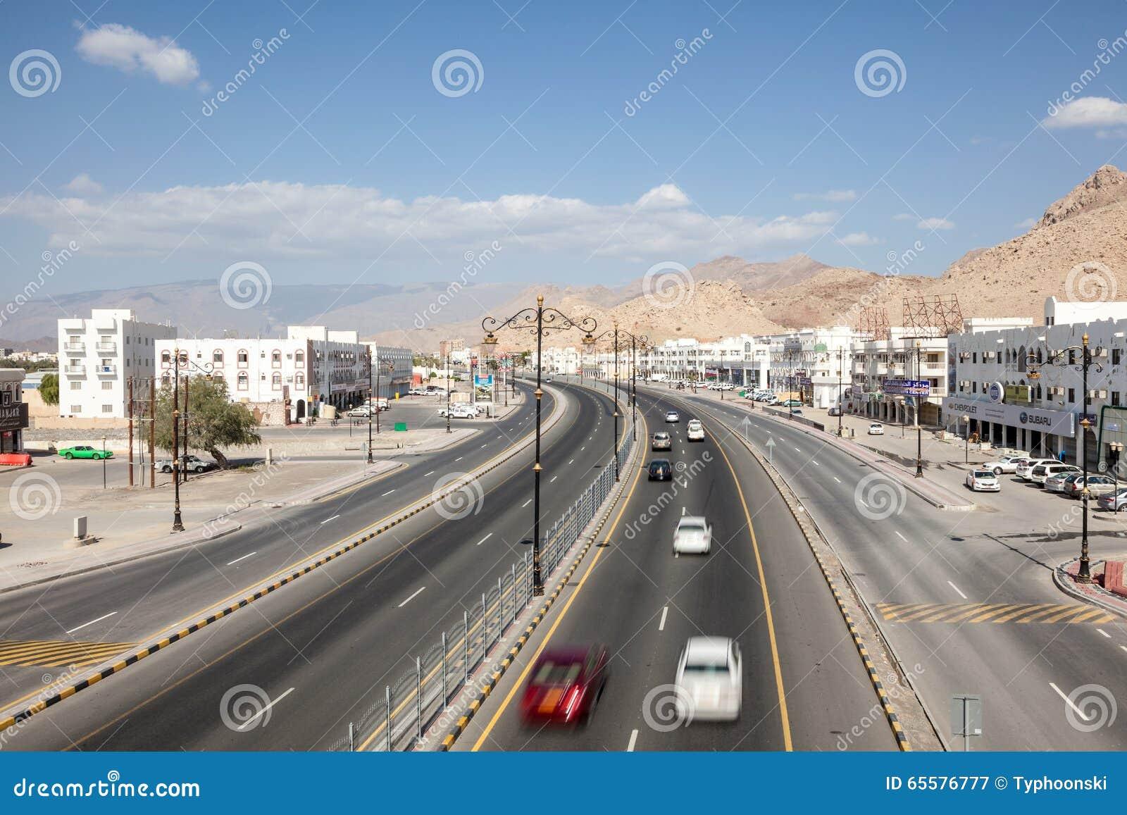 Estrada na cidade de Nizwa, Omã
