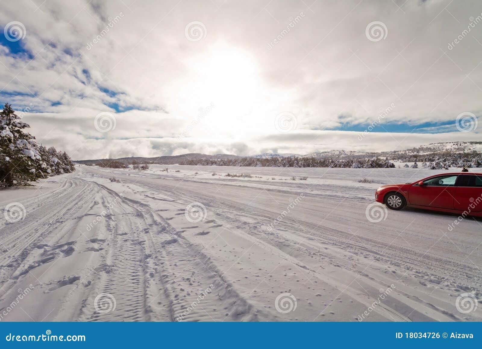 Estrada nevado