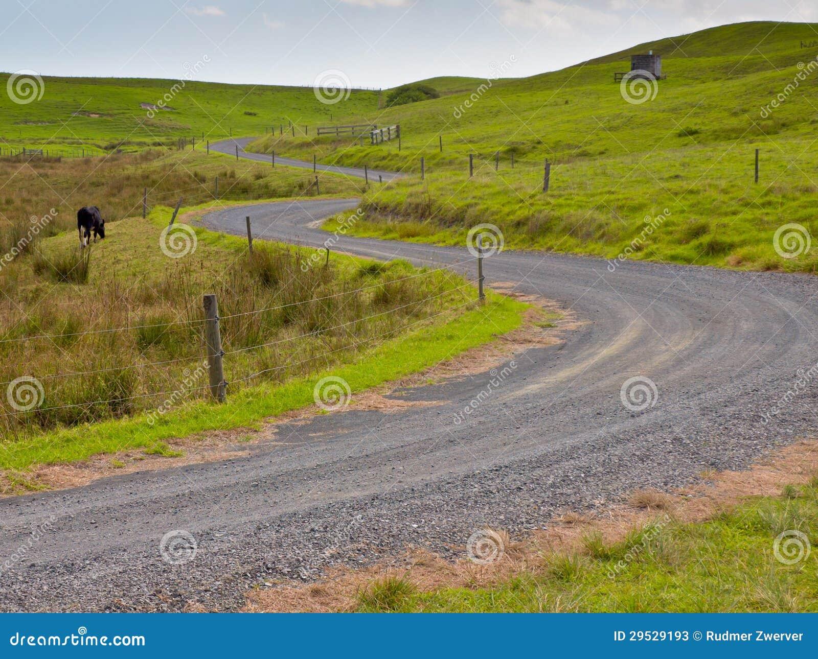 Estrada rural de enrolamento
