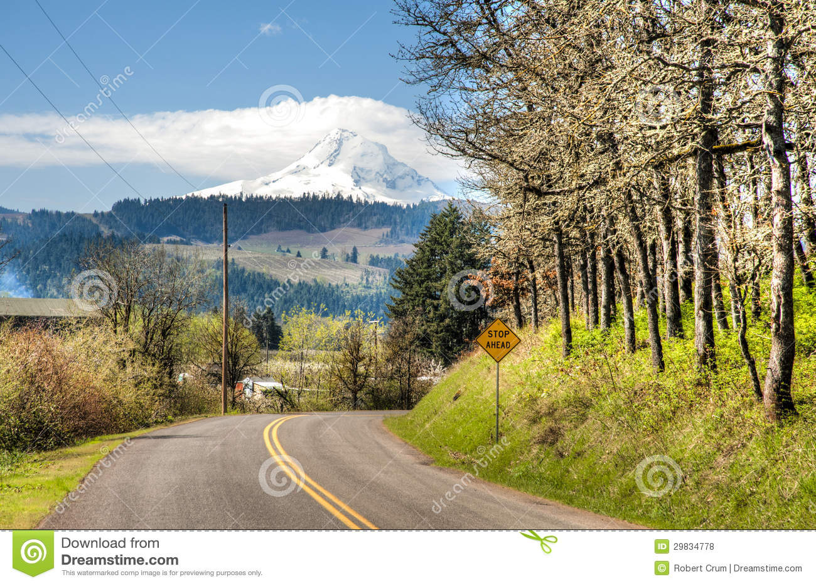 Estrada rural, Hood River Valley, Oregon