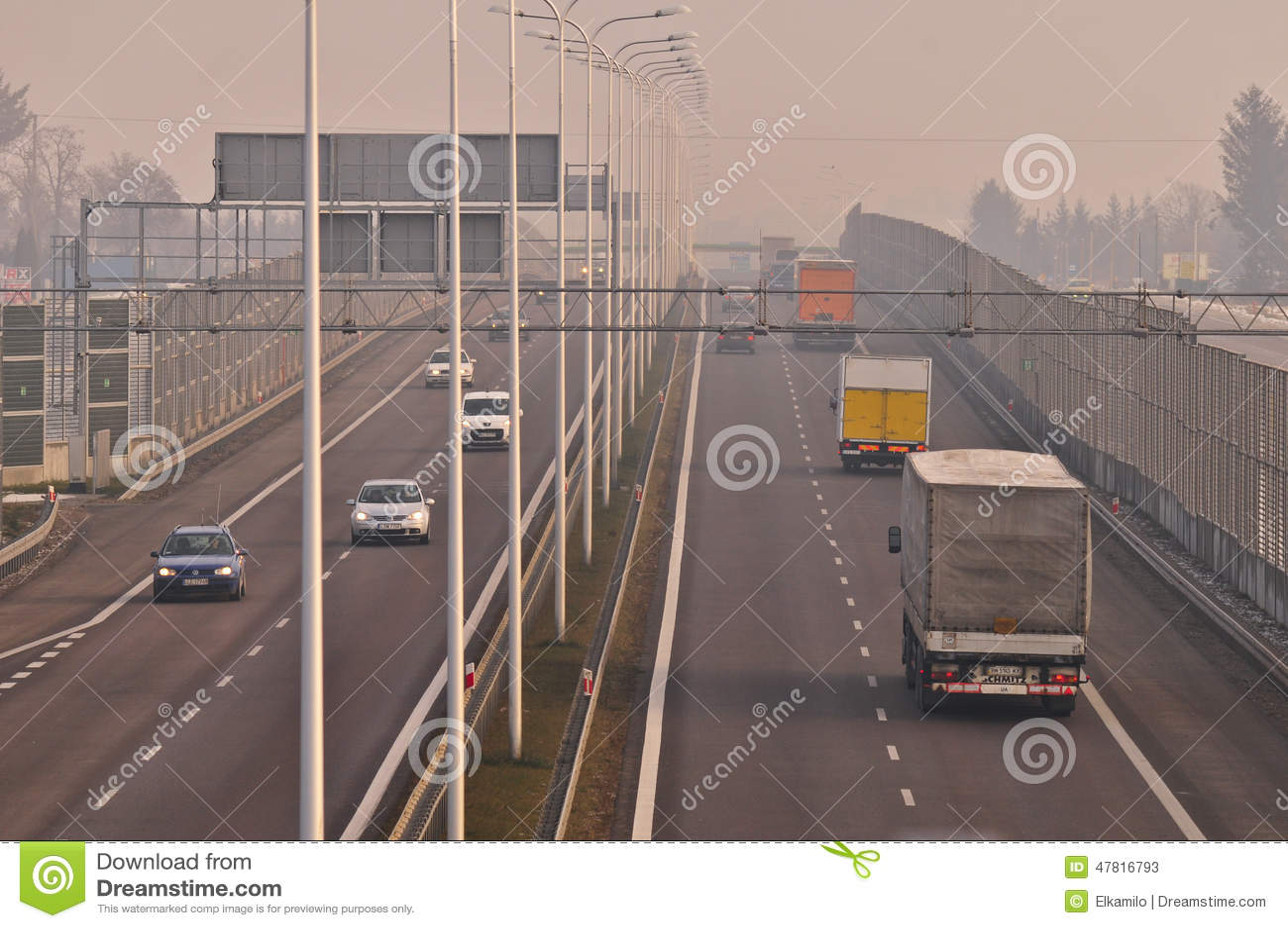 Estrada S17 próximo a Lublin, Polônia