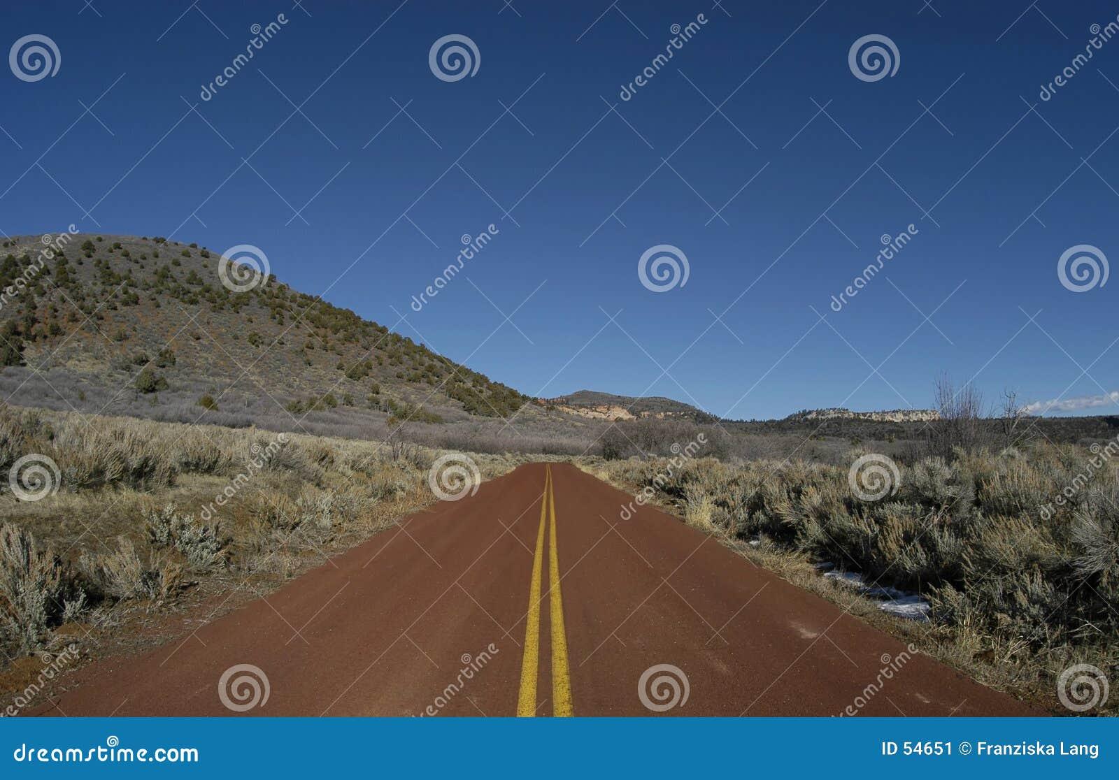 Estrada vermelha