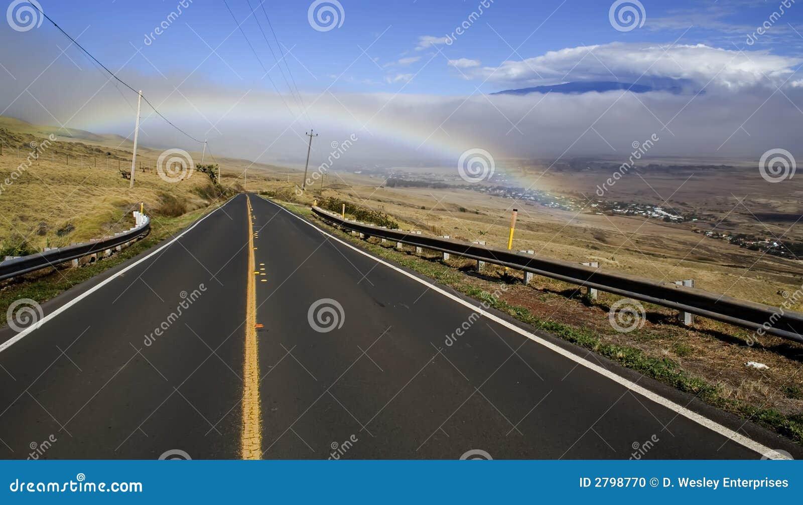 A estrada a Waimea