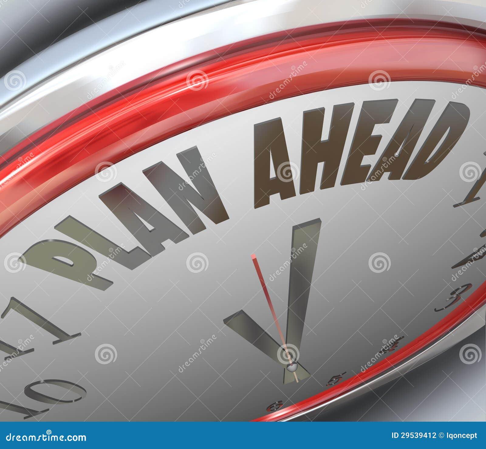 Estratégia do planeamento futuro de horas do plano adiante