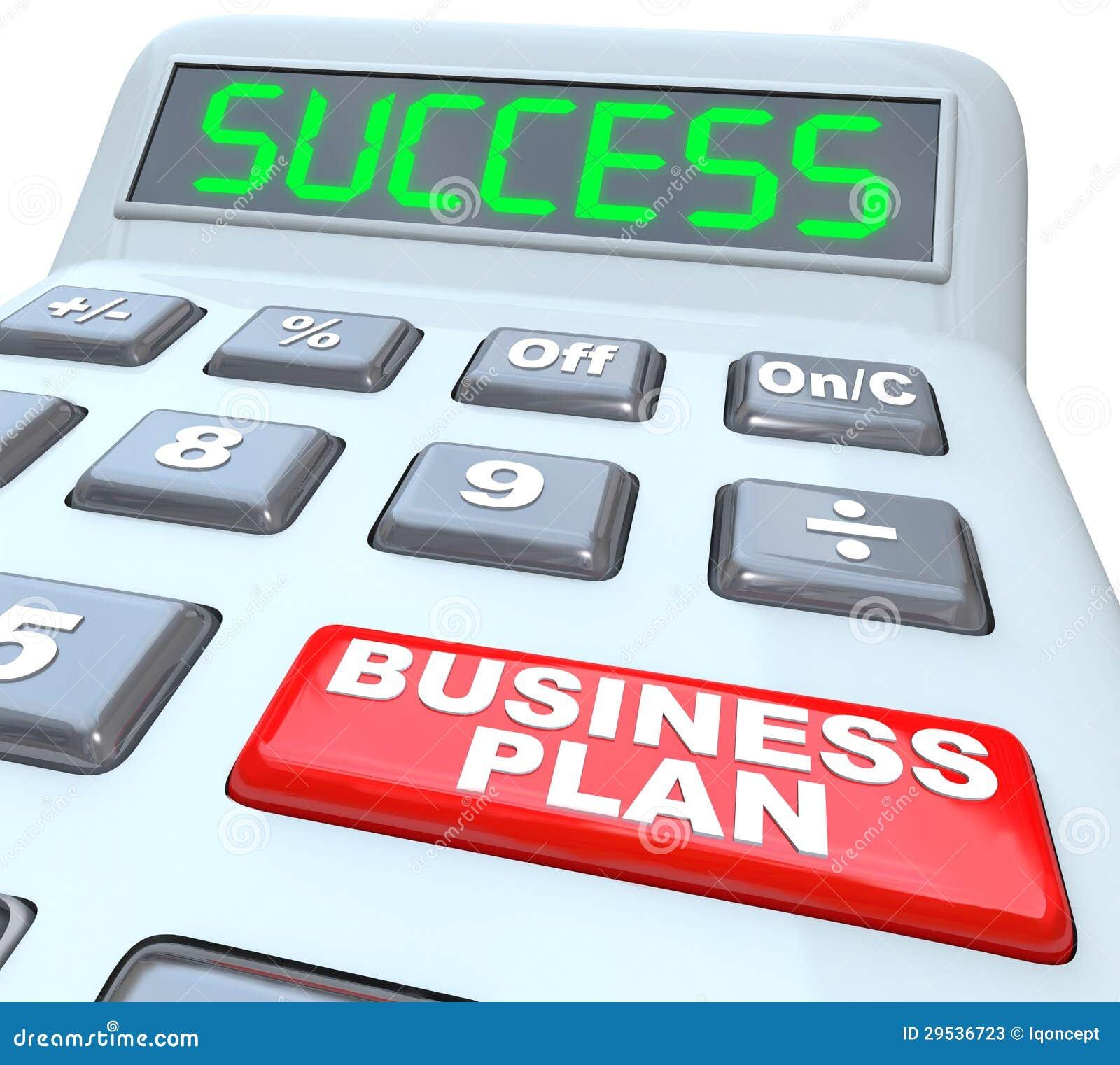 A estratégia do sucesso do plano de negócios exprime a calculadora