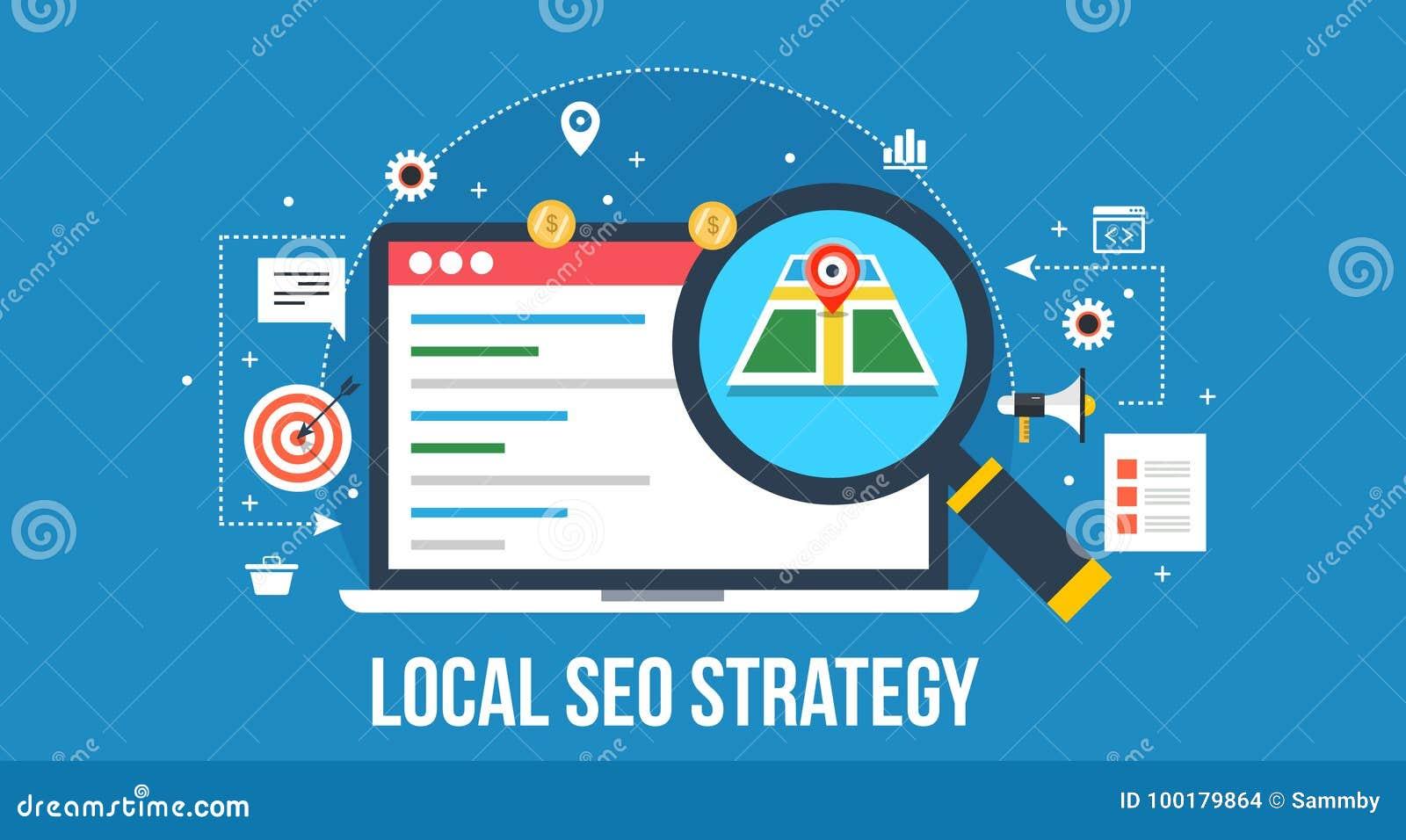 Estratégia local do seo - otimização do Search Engine