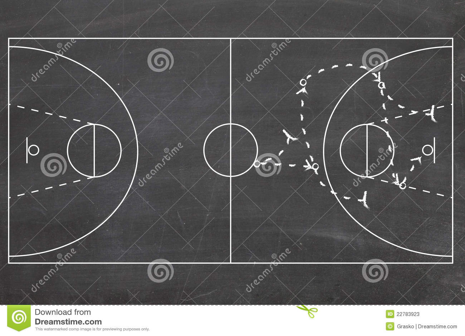 Equipo De Baloncesto De Las Mujeres Imagen De Archivo: Estrategia De Baloncesto Imagen De Archivo. Imagen De