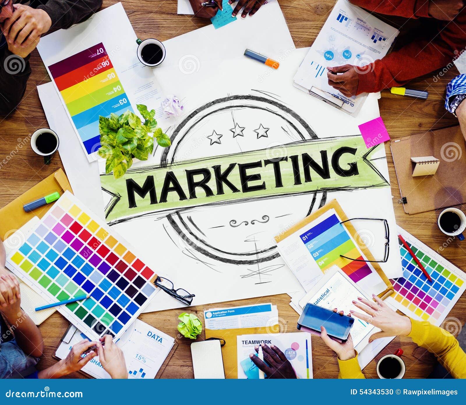 Estrategia de marketing que califica el plan comercial Concep del anuncio