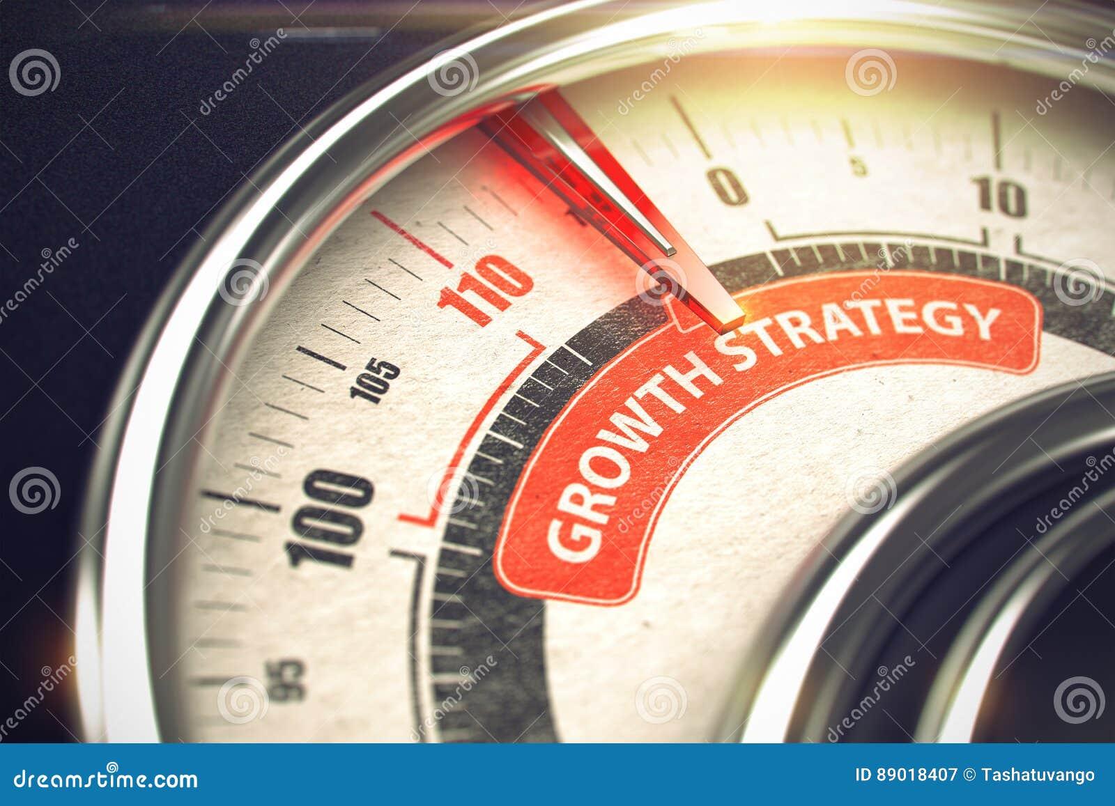 Estrategia del crecimiento - concepto del modo del negocio 3d