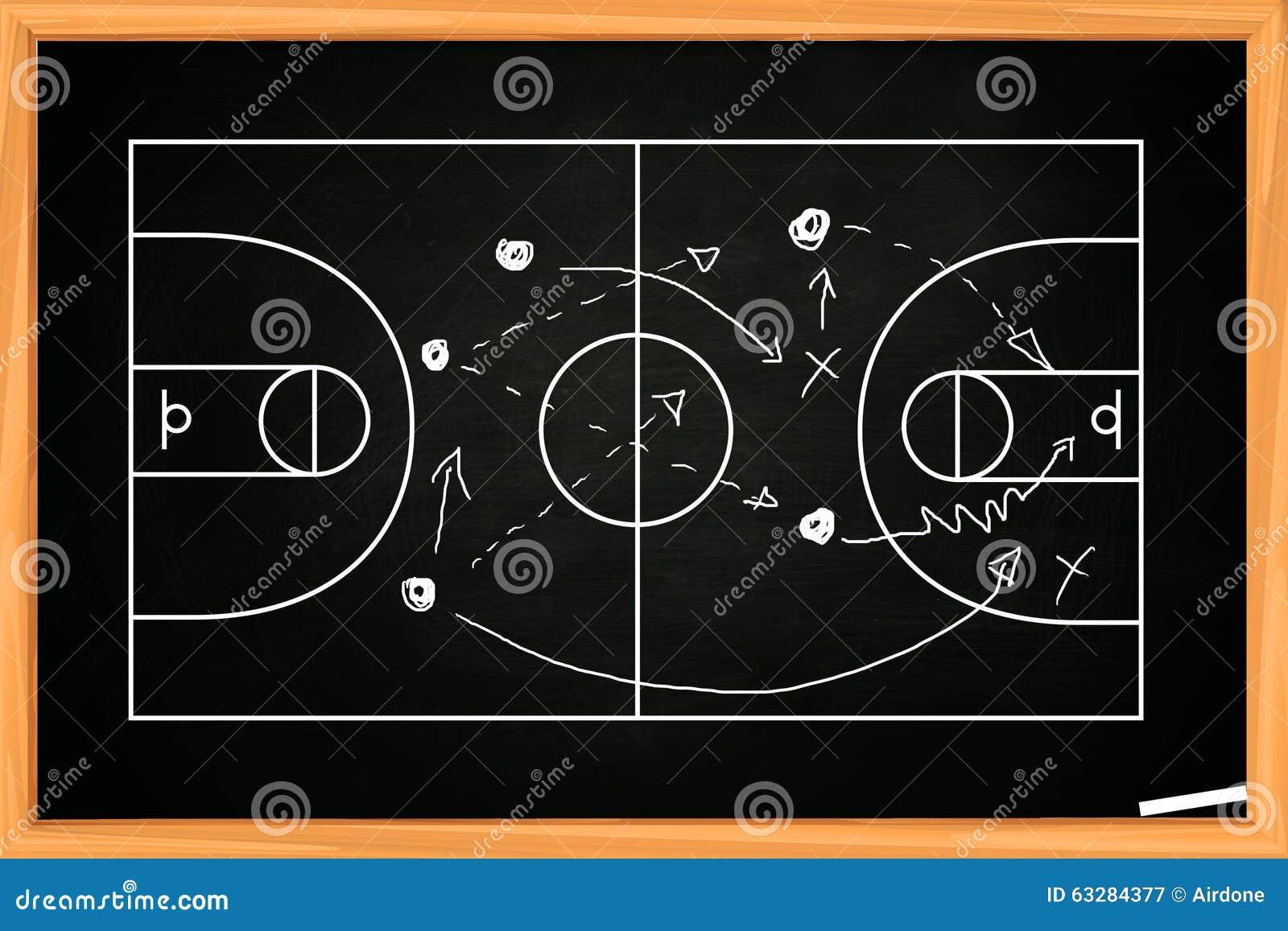 Estrategia Del Juego De Baloncesto Imagen de archivo - Imagen de ...