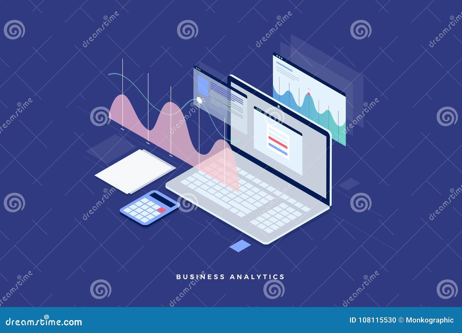 Estrategia empresarial del concepto Datos e inversión del análisis Éxito de asunto Comentario financiero con el ordenador portáti