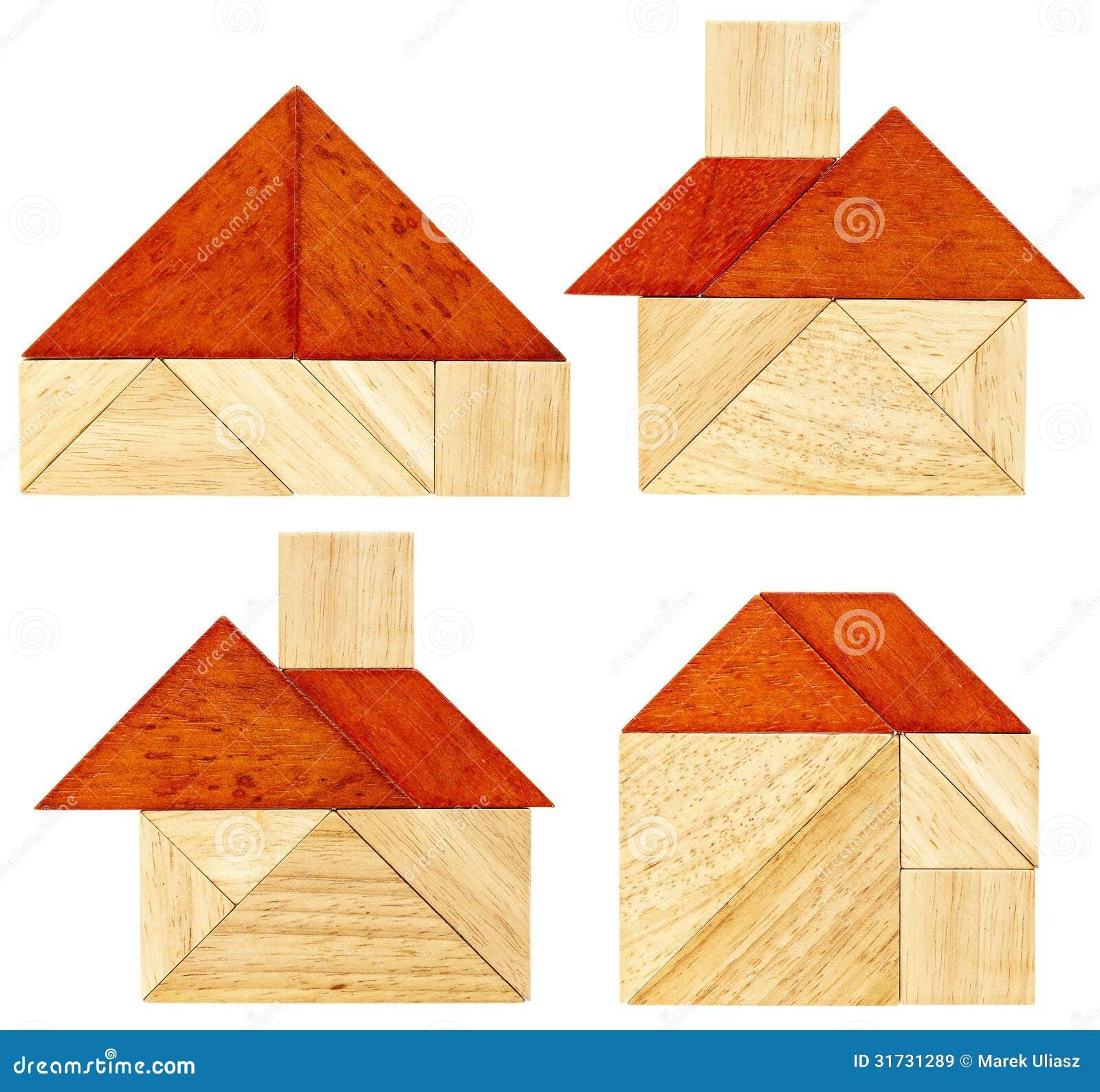 Estratti della casa del tangram immagine stock immagine for Disegni e prezzi della casa