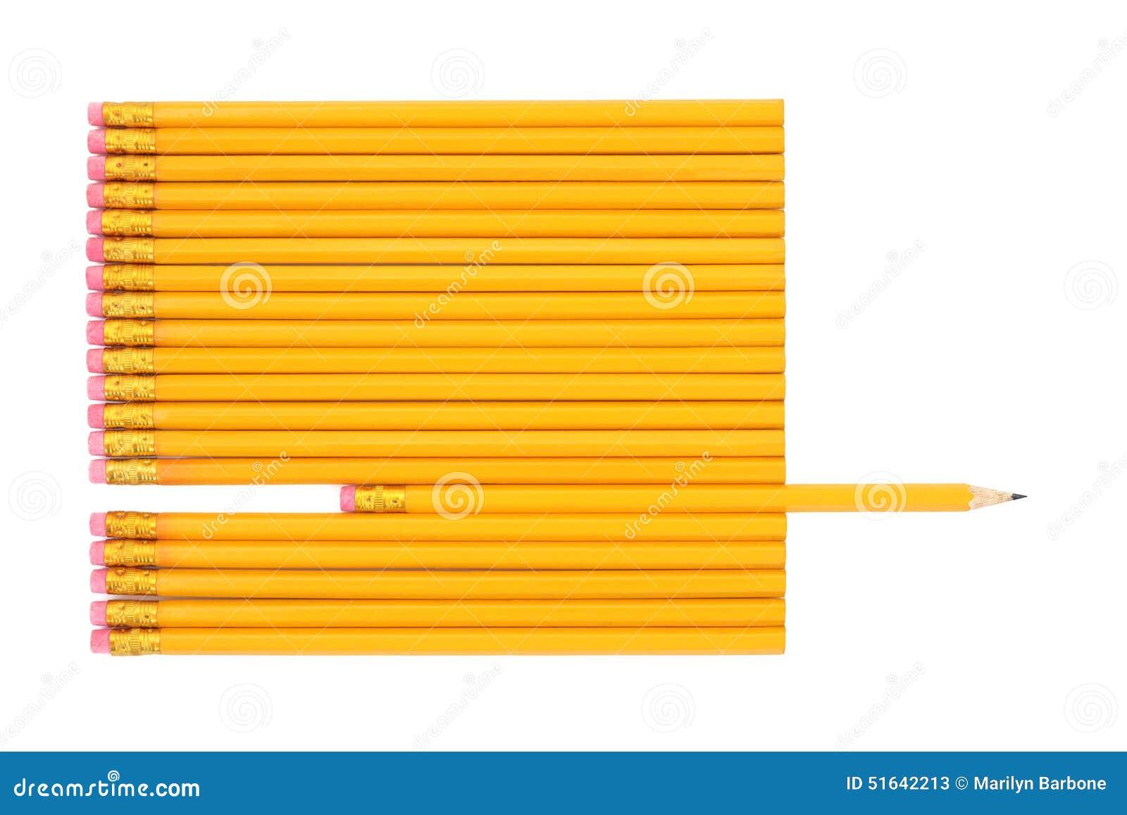 Estratto della matita di grafite