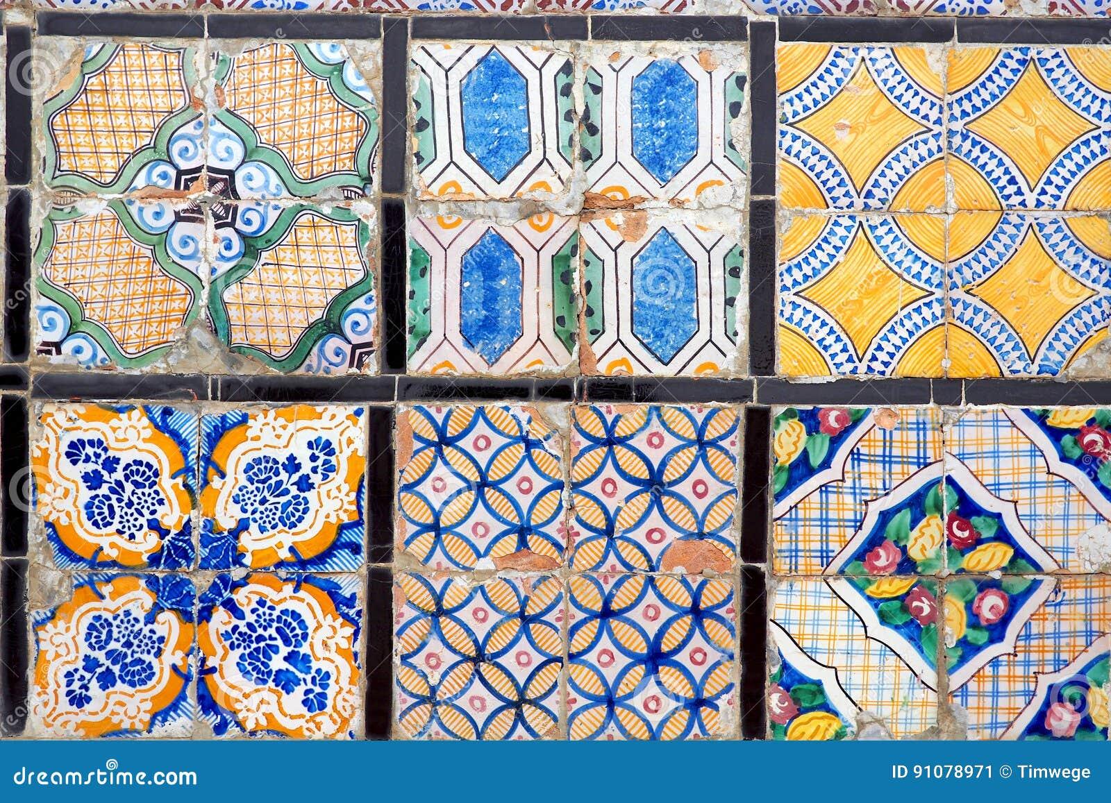 Estratto delle piastrelle di ceramica arabo immagine stock
