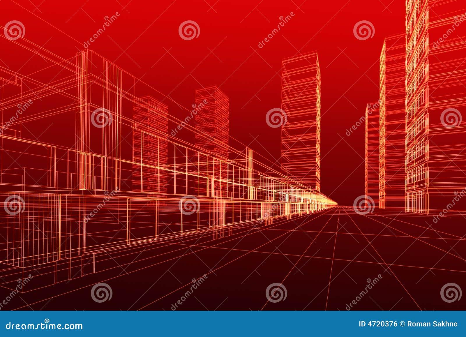 Estratto di architettura 3d illustrazione di stock for Programmi architettura 3d