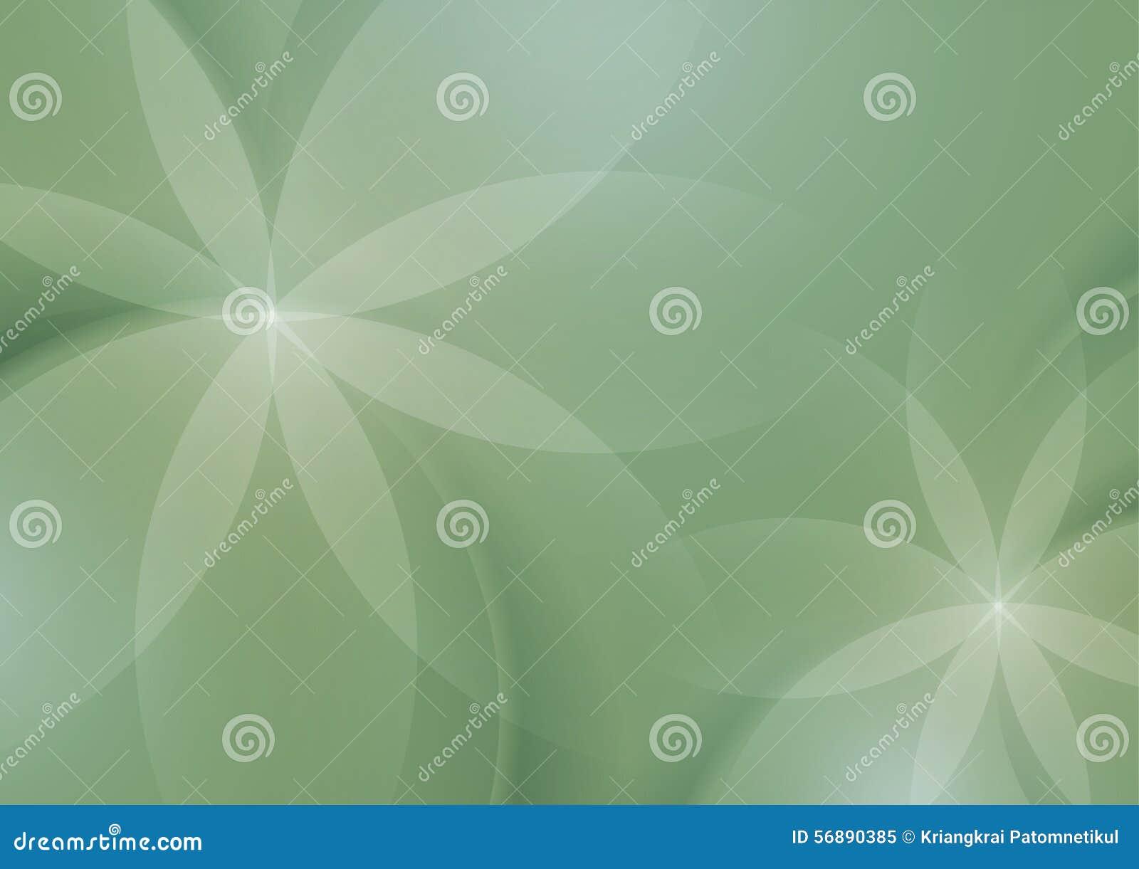 Estratto floreale su Sage Green Background