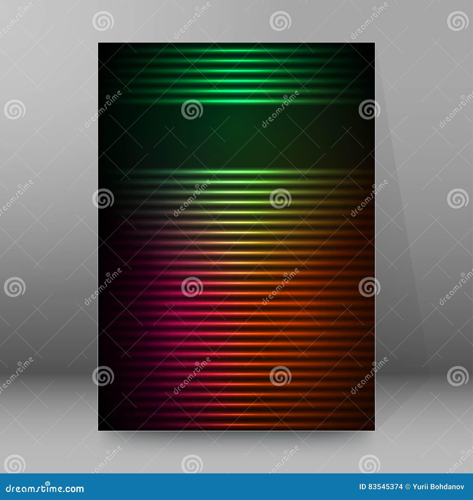 Estratto glow63 di stile delle copertine A4 dell opuscolo rapporto di fondo