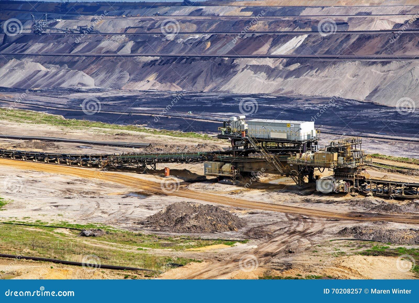 Estrazione diretta della lignite (lignite) in Garzweiler, Germania