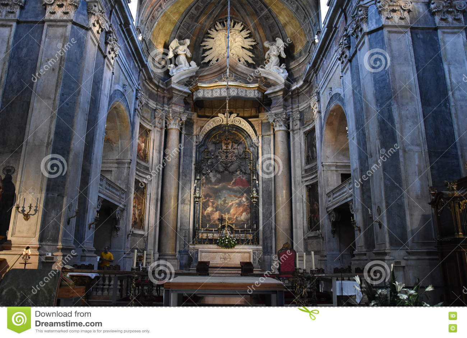 Estrela大教堂在里斯本,葡萄牙