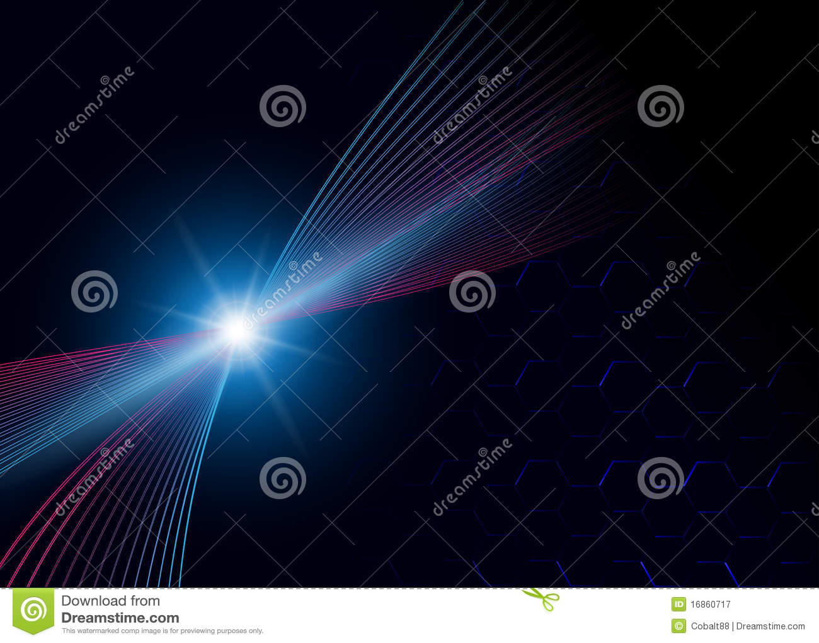 Estrela azul do fundo