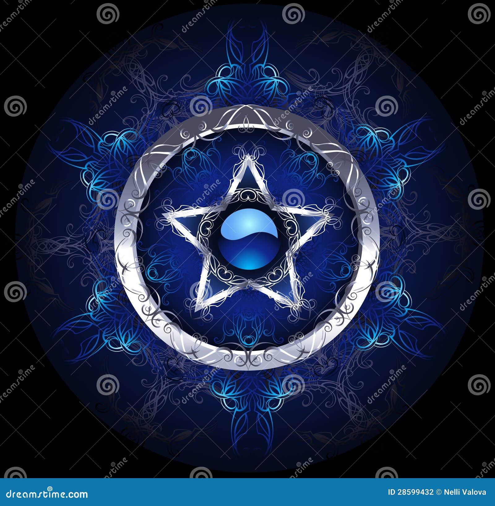Estrela azul místico