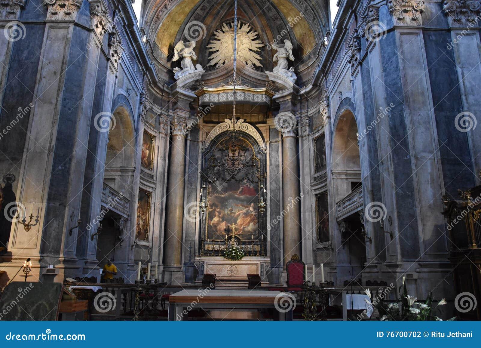 Estrela Basilica in Lisbon, Portugal