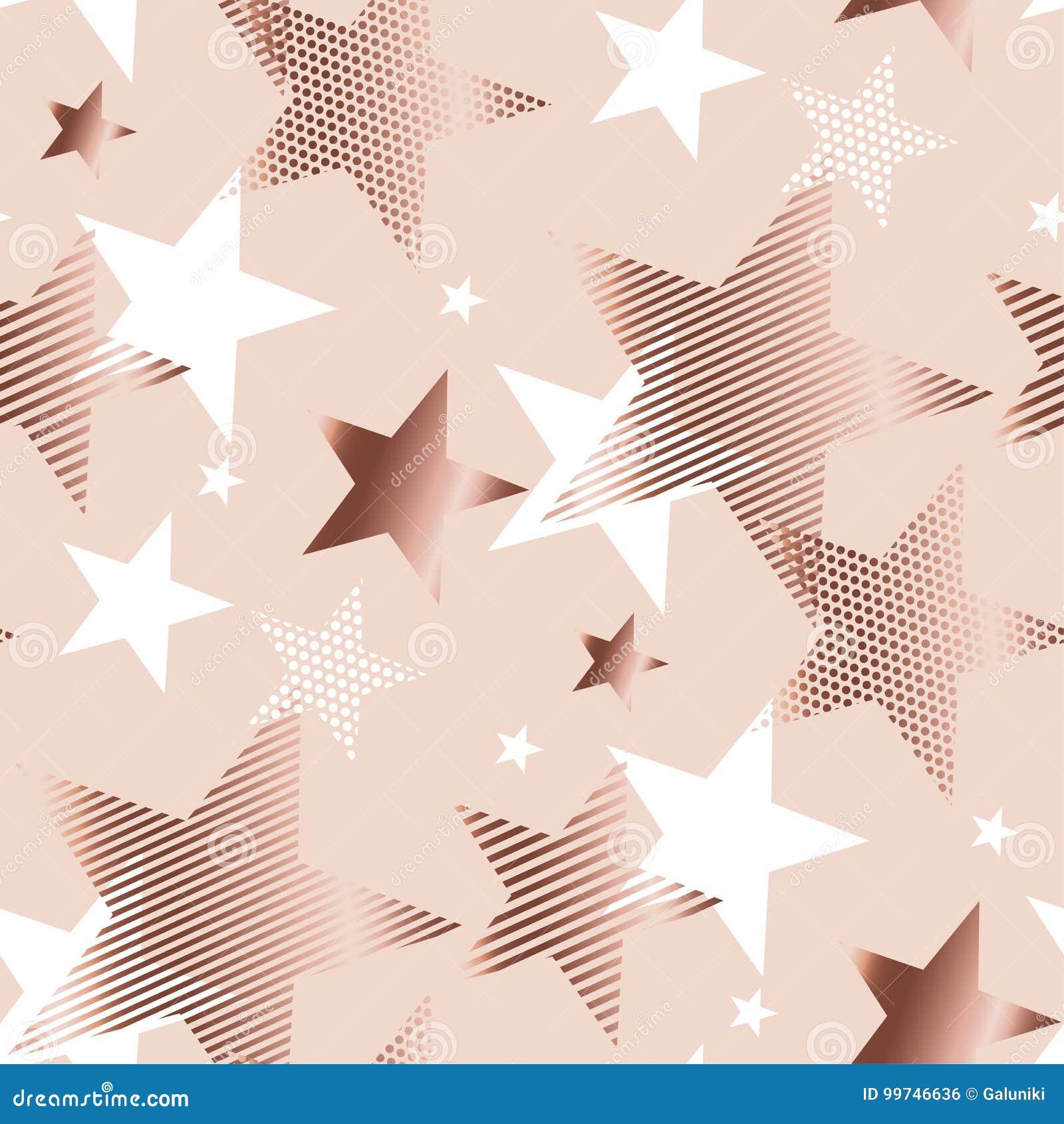 Estrela da geometria do sumário da cor do ouro de Rosa