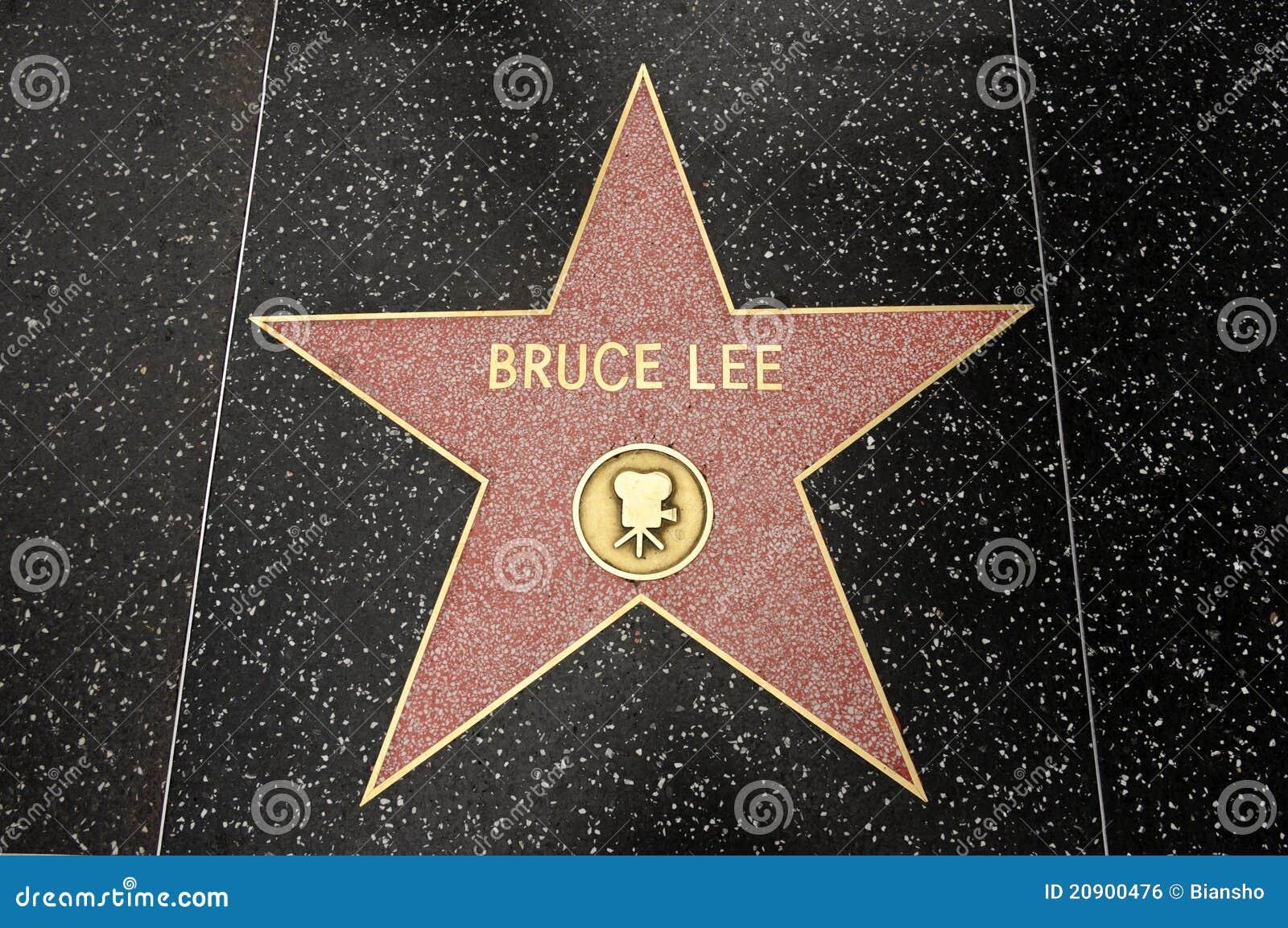 A estrela de Bruce Lee