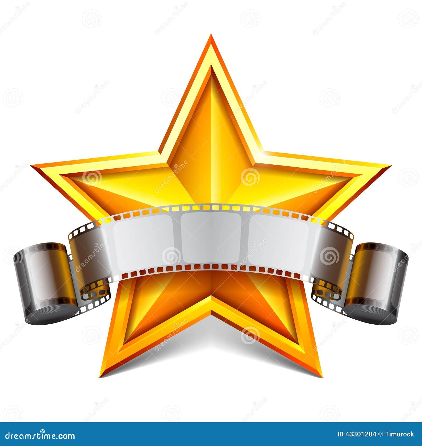 Estrela De Cinema Ilustra 231 227 O Do Vetor Imagem 43301204