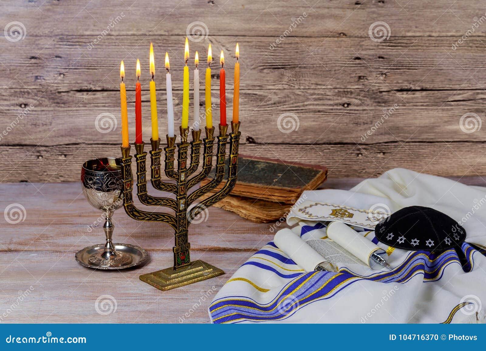 Estrela do menorah de David Hanukkah