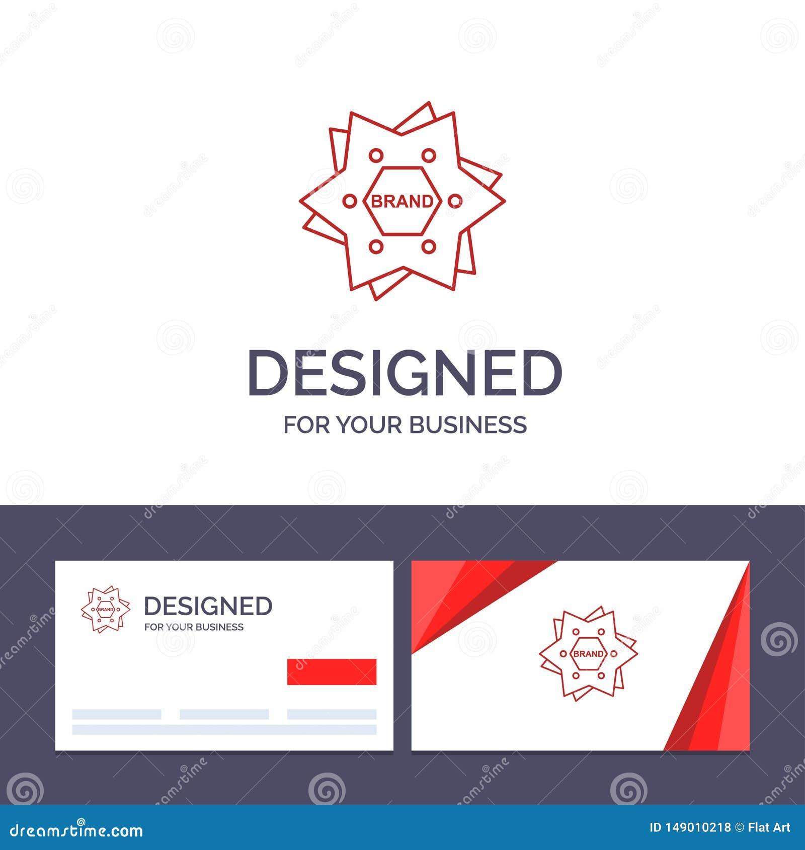 Estrela do molde criativo do cartão e do logotipo, marcando, tipo, logotipo, ilustração do vetor da forma